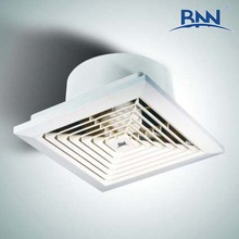 durable ABS plastic brushless square louver waterproof refresh air ceiling axial exhaust fan for bathroom ventilation