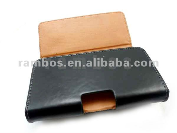 Black Belt Clip PU Leather Case Pouch Holster for Samsung Galaxy Note2 II N7100