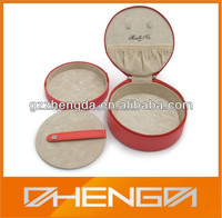 Guangzhou Factory Customized Made-in-China Round Leather Box(ZDL13-S023)
