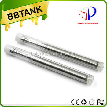 Disposable ceramic coil glass ecigarette BBtank C1 with plastic packaging