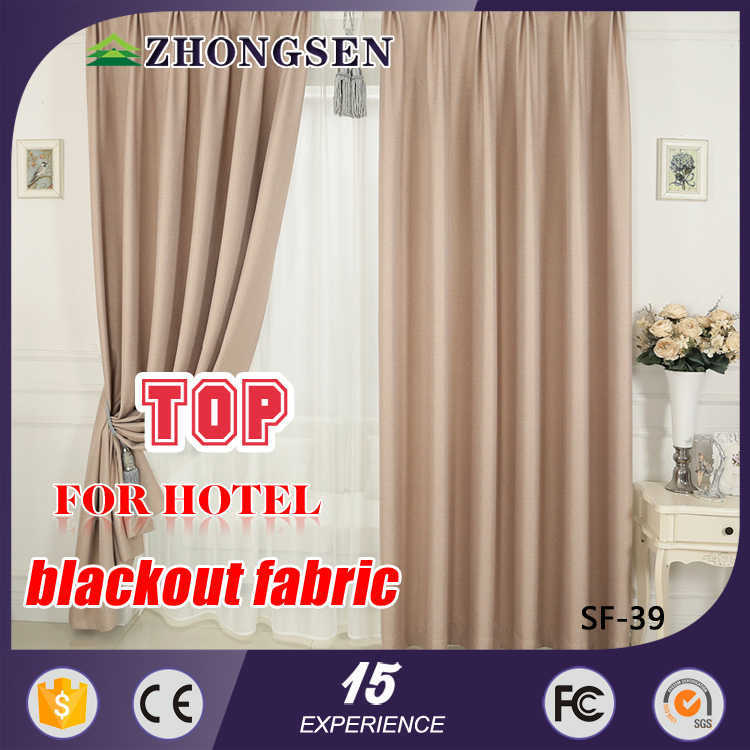 100% polyester/linen hotel office cafe use yarn dyed woven curtain