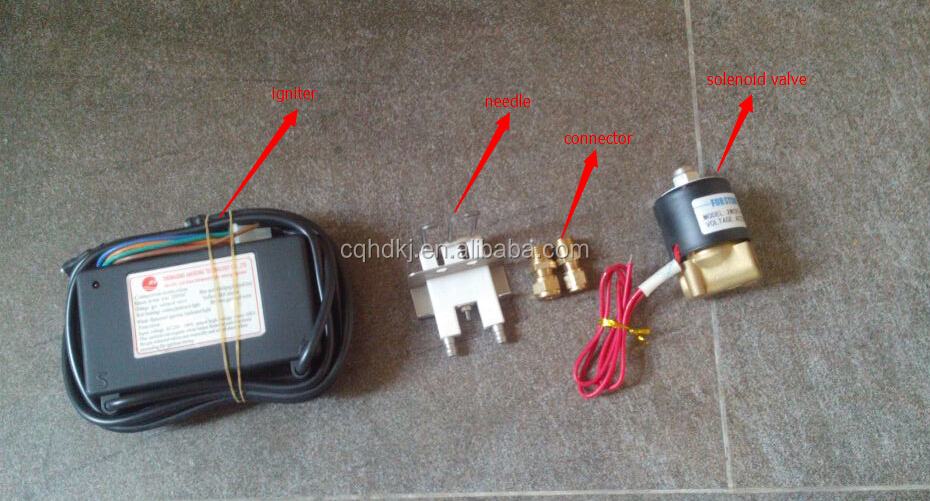 Ignition igniters electrode for gas burner