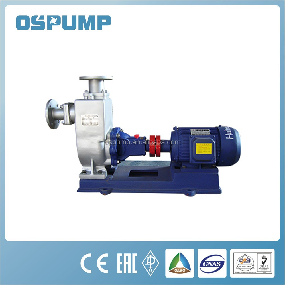 marine self-priming bilge pump