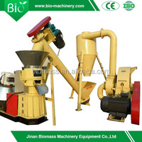 SKJ200 pellet mill and SG40 hammer mill small plant for sale,wood pellet making line.