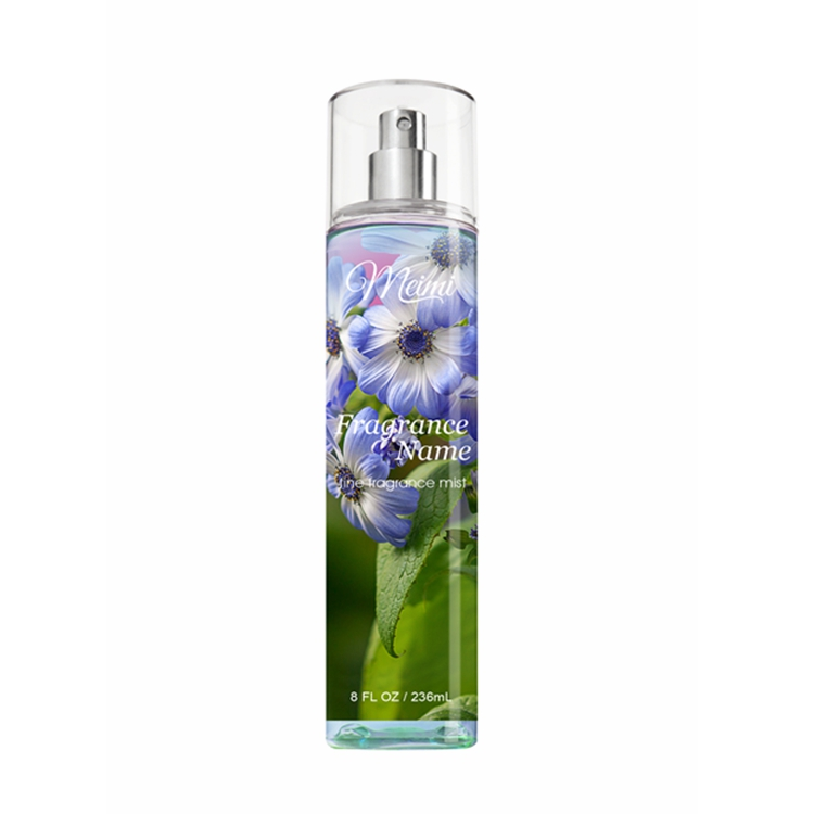 Factory wholesale black women deodorant body mist spray with flower scents
