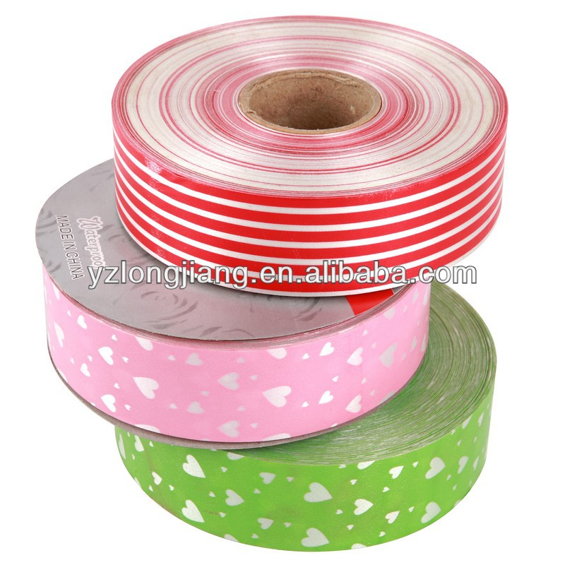 Star Printed Plastic Ribbon for Gifts Decoration