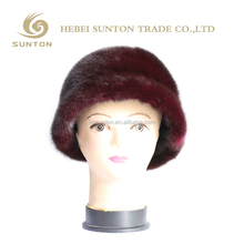 China factory wholesale Luxurious Women winter Real mink raccoon fur caps