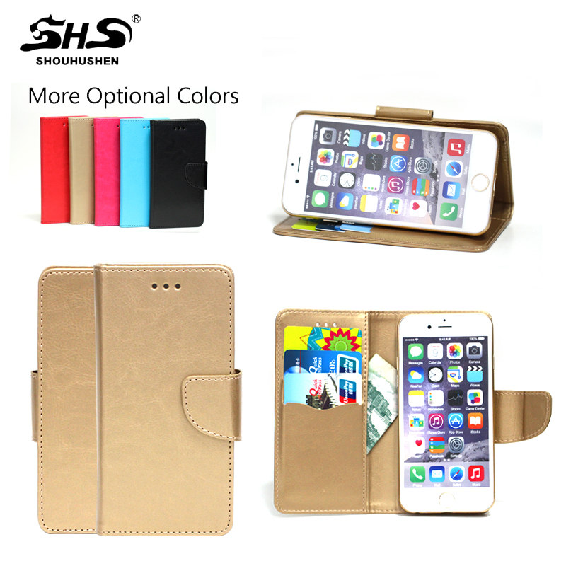 SHS High Quality Leather Universal Flip Phone Case For Samsung Galaxy s7 edge
