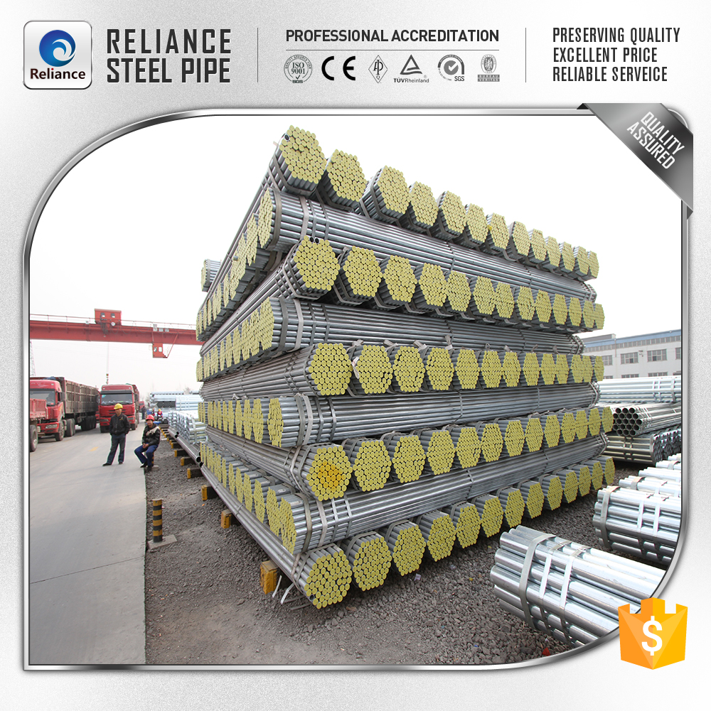DN40 galvanized steel pipe with threaded ends Cross-border delivery