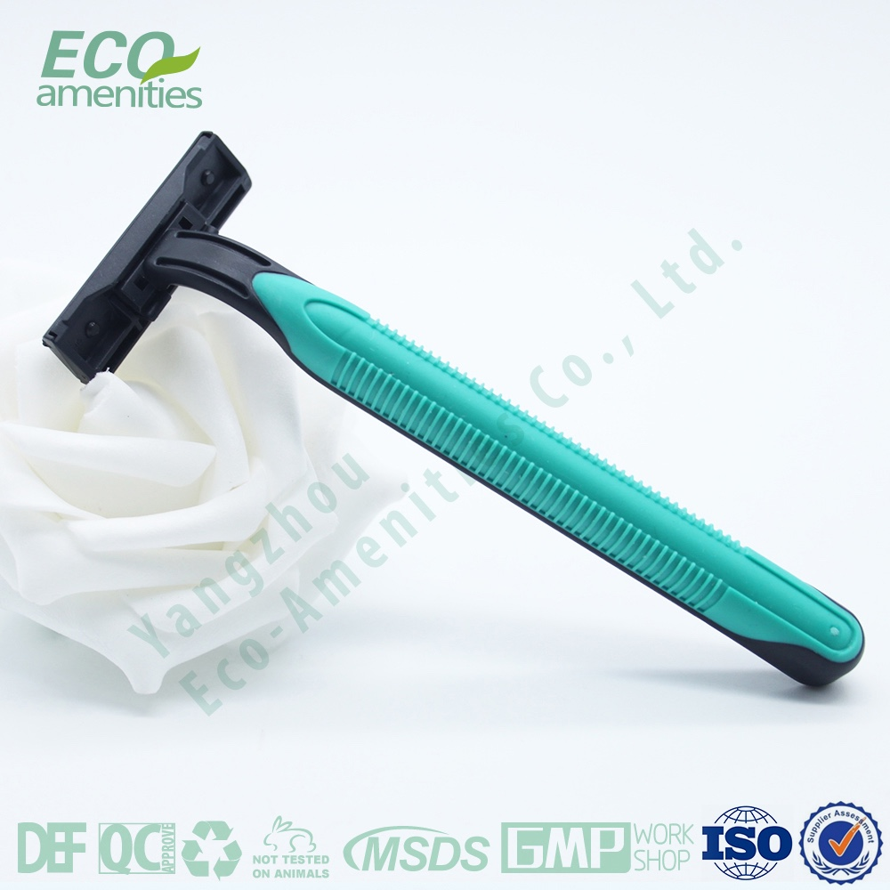 Famous Branded Hotel Razor Rubber Handle Two Blades