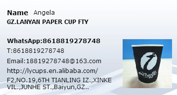 7oz logo printed disposable white single paper cup with lid
