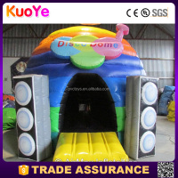colorful heavy duty pvc inflatable disco dome bouncy castle bounce house with speaker
