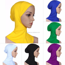 Hot Sell Hijab Caps Muslim Islamic Arabric Jersey Hijab Scarf Wholesale Fashion Women Inner Hijab Underscarf