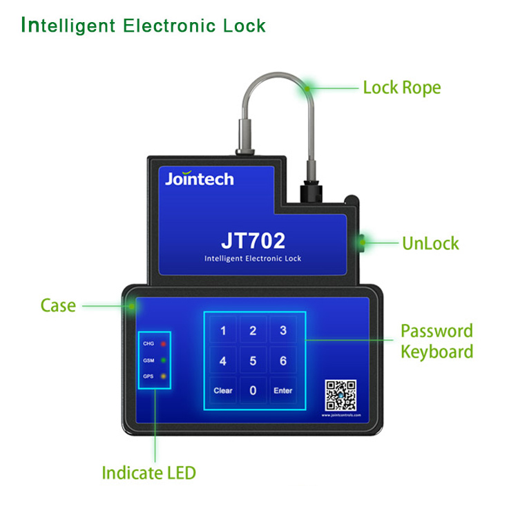 Keypad gps container tracking lock with remote unlock from software and APP