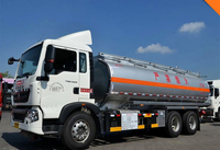 Sinotruck aluminum 25000 liters fuel tank truck for gasoline diesel delivery