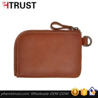 Best personalized slim cow genuine leather RFID Blocking ID credit crd wallet