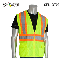 Class 2 Two-Tone bike hi vis wholesale cheap reflective warning sports safety Surveyors Vest