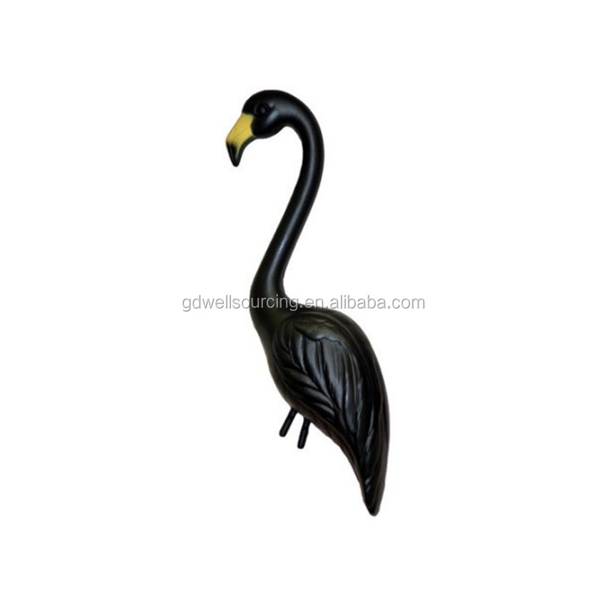 PE Material Flamingo Whole Hunting Outdoor Attract Vivid Black Color