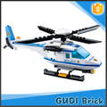 108 PCS hot selling police series helicopter building bricks toy set