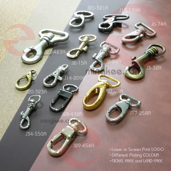 Custom gold plates water drop shape welded suitcase clasps