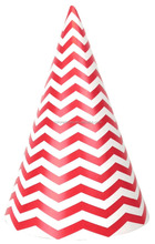 Disposable Chevron Paper Party Hats For Kids Birthday