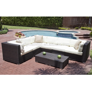 Latest design outdoor garden furniture rattan garden sofa set