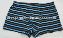Good quality and Stripe design Men's Boxer Briefs with Lycra material,underwear men,transparent men underwear