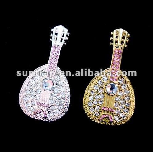 guitar jewelry diamond usb flash drive usb promotional business gift