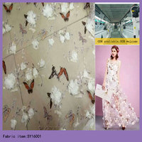 2016 Latest Embroidered High Quality French Net Tulle Lace fabric For Party Dress