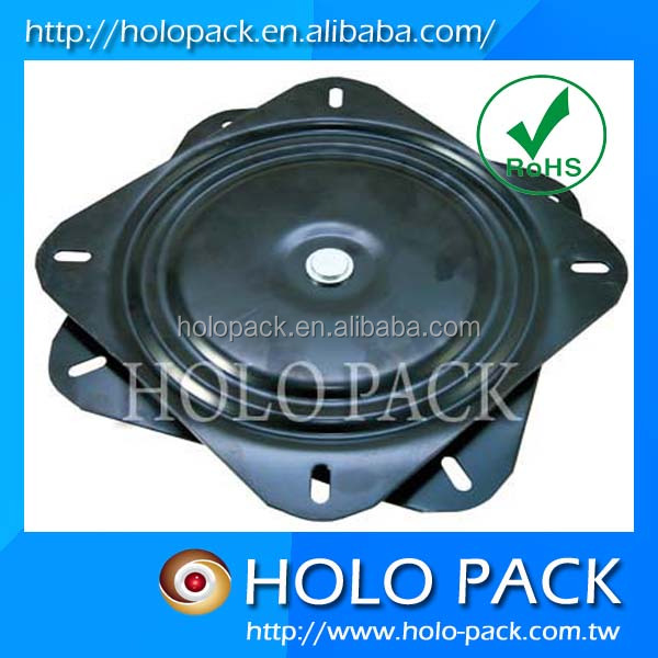 Hot sale 360 degree free spin square turntable swivel chair parts for table or swivel chair
