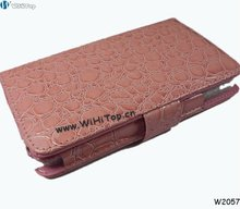 Pink Color, For Samsung Galaxy Note GT-N7000 Flip Crocodile Leather Case Cover