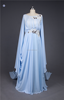 High Quality SHMY-E018 Long Sleeve Beaded Chiffon Evening Dress for Muslim Women