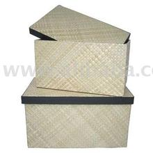 Set 2 Pandanus Rectangular Box