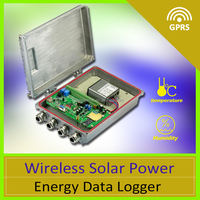 Wireless Solar Power Energy Data Logger thermostat digital panel