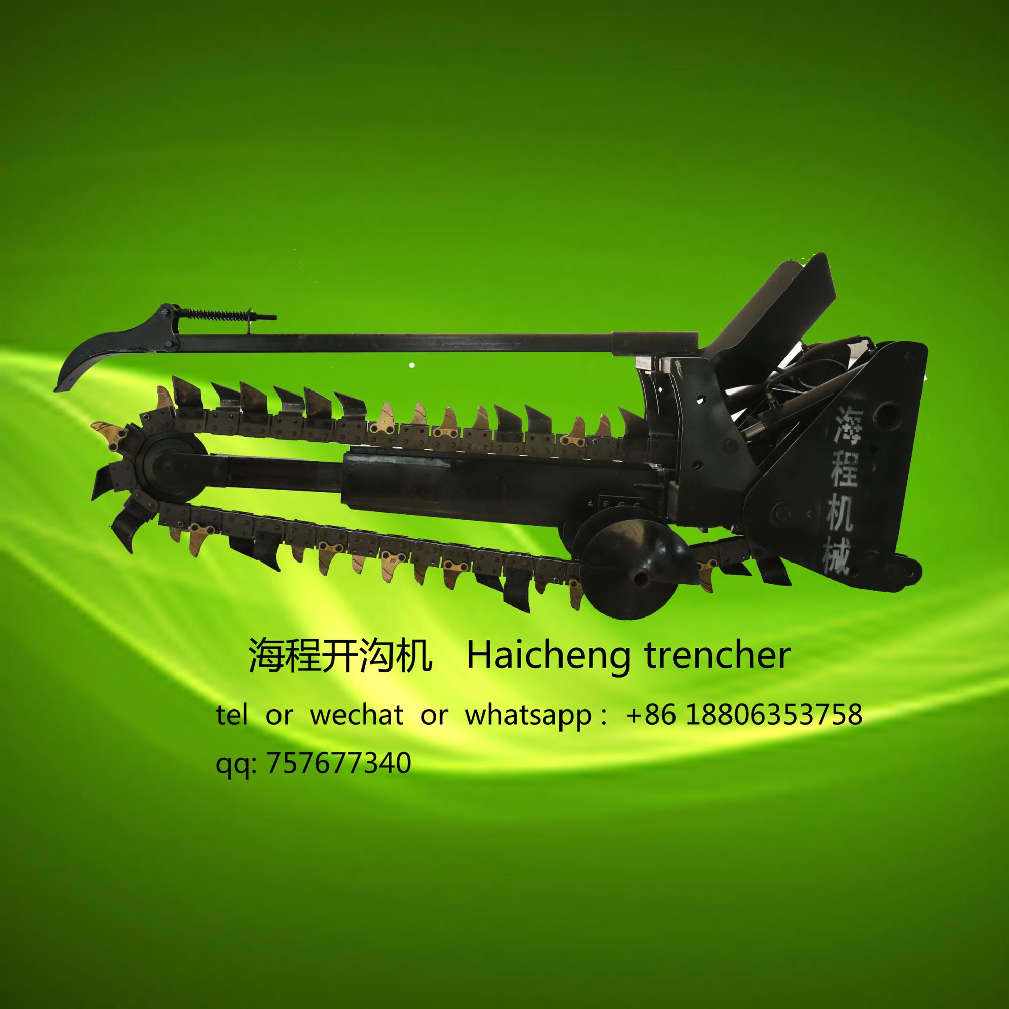Factory Direct sale Chain Trencher cable machine for wheel tractor