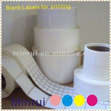 Minrui Permanent Adhesive Specialized Blank Barcode Labels,Nice Price High Quality Anti-counterfeit Barcode Stickers