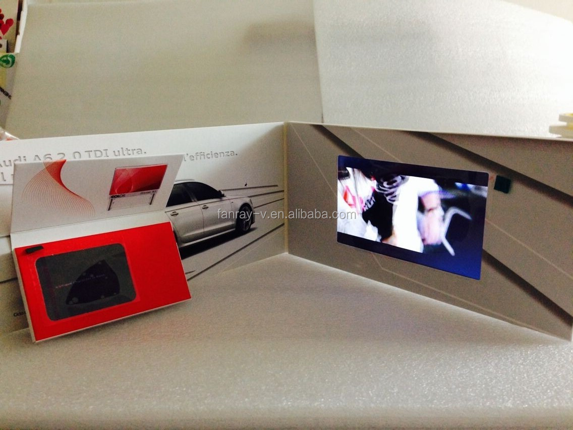 2014 promotional Lcd video advertising book for Audio best selling car