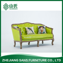 European modern style wood chairs seat settee