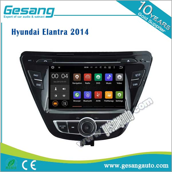 Auto entertainment system android car dvd player for Hyundai Elantra 2014 with Radio,GPS,Bluetooth,3D UI