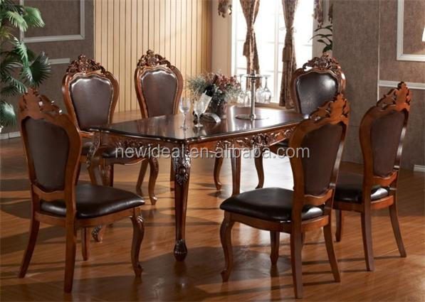 High quality 6 seater rectangle wooden dining table (NG2656 )