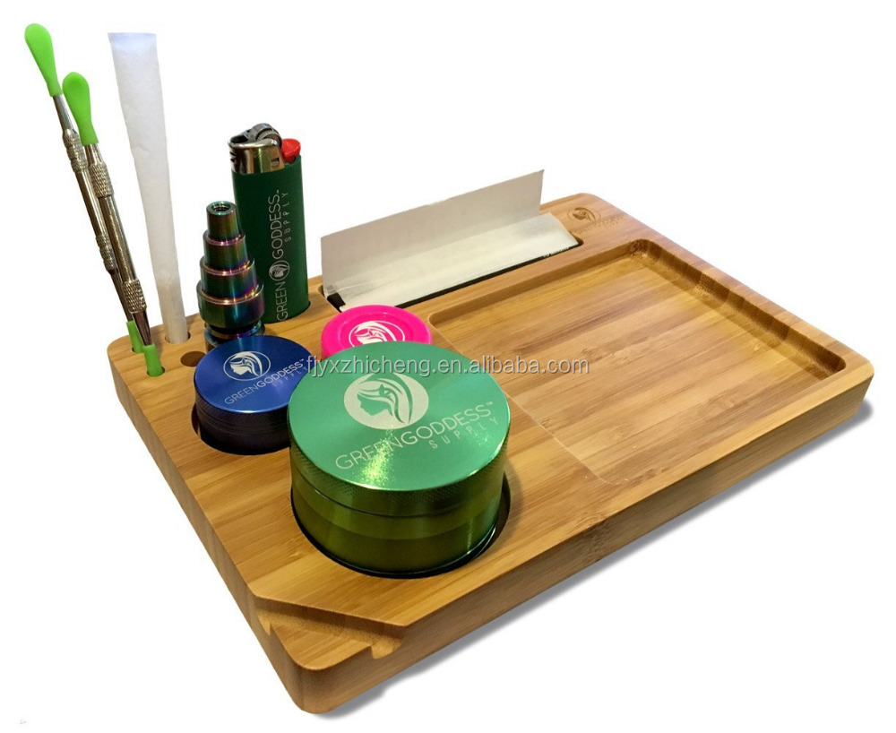 High Quality Bamboo Customize Rolling Tray Wholesale Serving Trays
