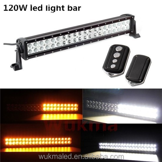 21.5inch 120W Amber/White Led Work Light Bar SPOT FLOOD Offroad 4WD UTE ATV SUV