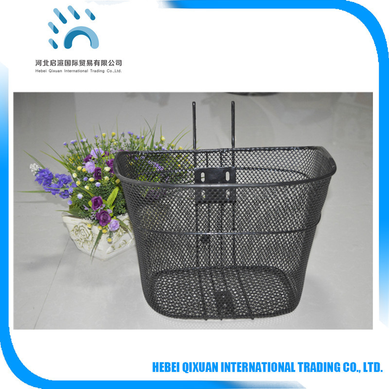 Modern Steel Wire Bicycle Basket With Handle Hanging