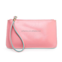 cheap pu style long flat women clutch bag wallet with handle wallets