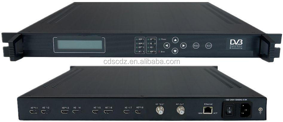 8IN1 H.264 hd rf dvb-t modulator(1080i,8*HD in,2*DVB-T out)