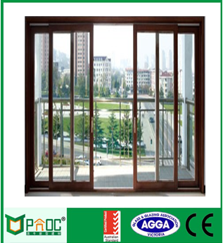 China manufacturer aluminum lift sliding glass patio doors 4 panel with louvers
