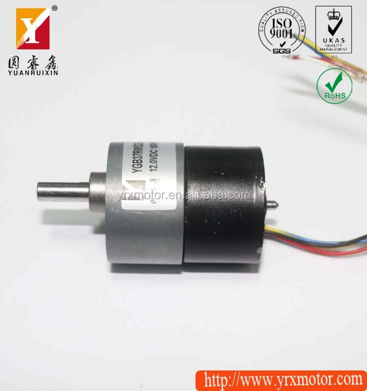 Reversible 12v 10w dc geared motor/brushless motor with planetary gear