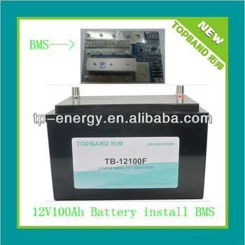 12V 100Ah LiFePO4 battery with built-in BMS for solar system Smart Power!