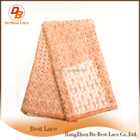 Luxury Shinning Pleated Organza Fabric Used In Lace Evening Dress
