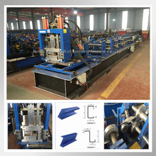 China Hot Sale Steel Tube Groove c z purlin roll forming machine manufacturs